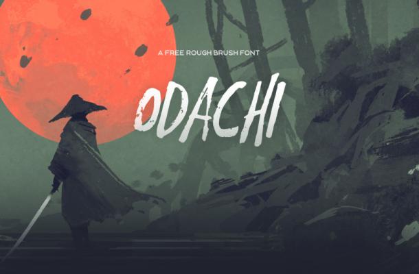 Odachi Brush Script Font