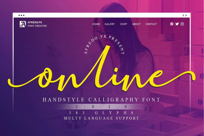 Online Script Calligraphy Font-1