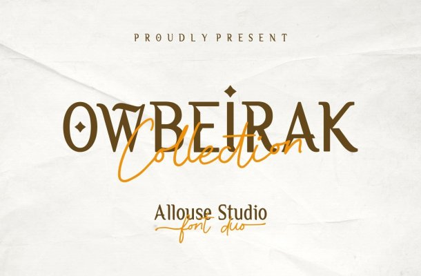 Owbeirak Collection Font Duo