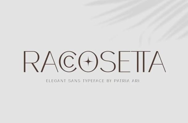 Raccosetta Typeface