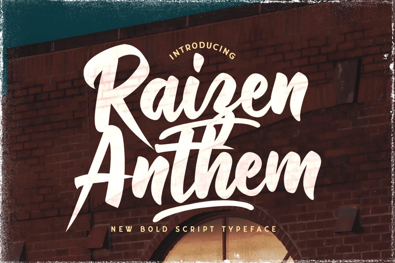 Raizen Anthem Bold Script Typeface-1
