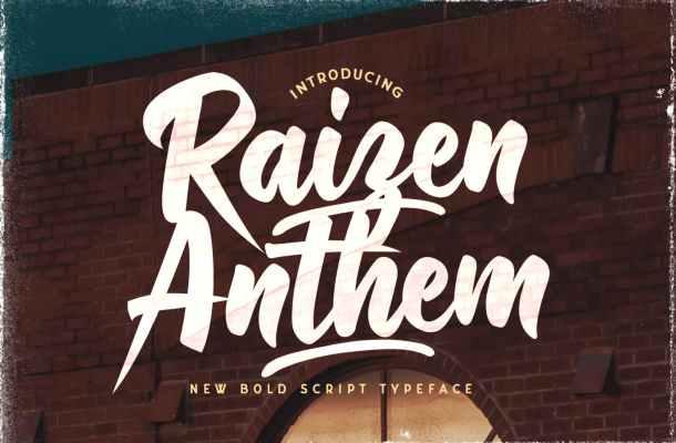 Raizen Anthem Typeface