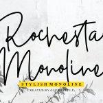 Rochestar Stylish Monoline Font