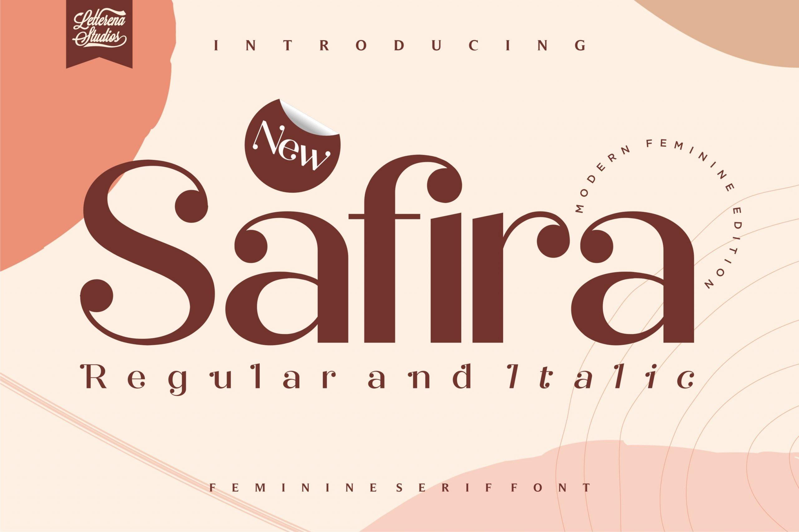Safira Modern Feminine Serif Font-1