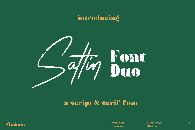 Sattin Modern Script Serif Font Duo
