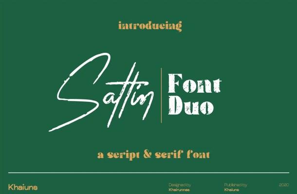 Sattin Font Duo