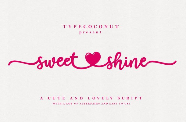 Sweet Shine Handwritten Font