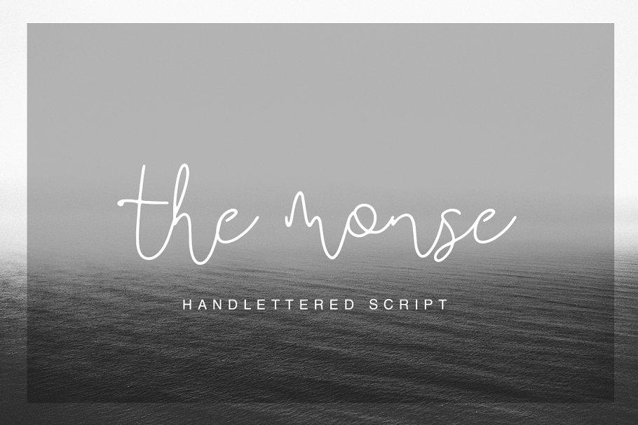 The Monse Handmade Calligraphy Font-1