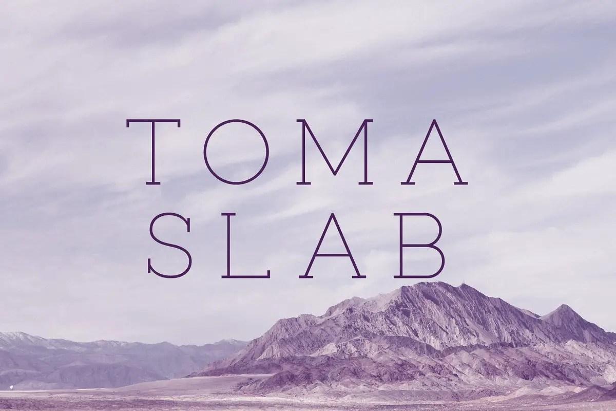 Toma Slab Serif Typeface-1