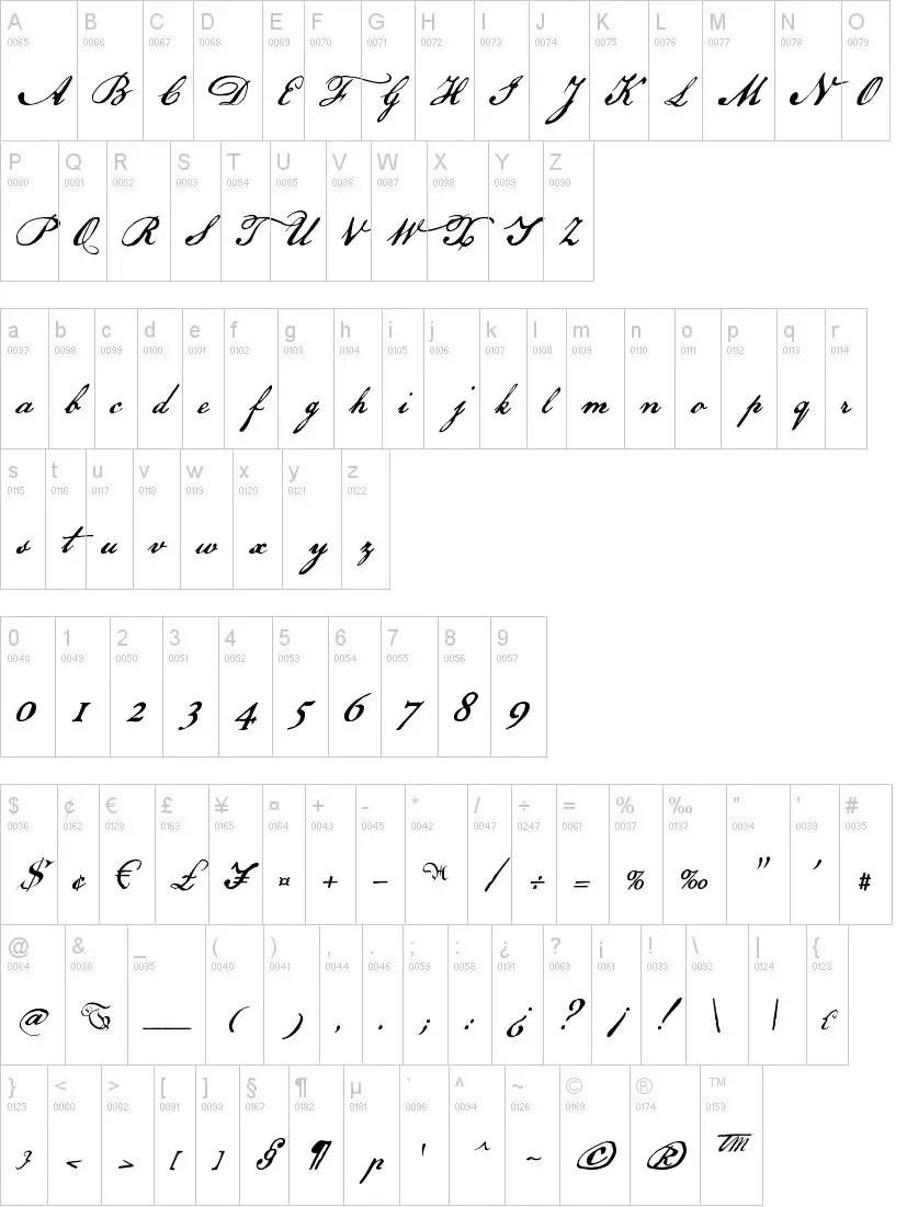 US Declaration Calligraphy Font-2