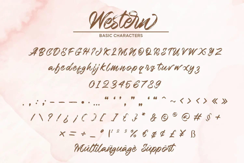 Western Hand Brush Script Typeface-3