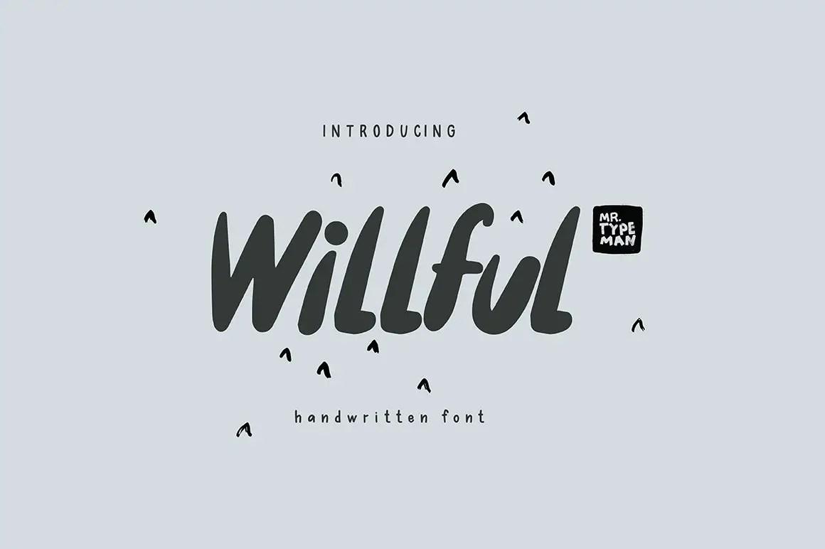 Willful Handwritten Brush Font-1