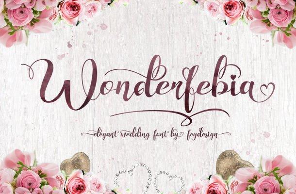 Wonderfebia Script Wedding Font
