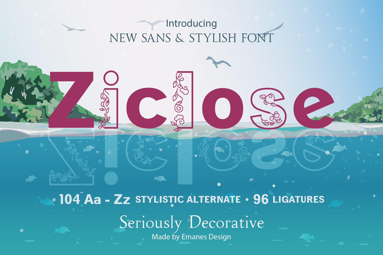 Ziclose Sans Serif Font-1