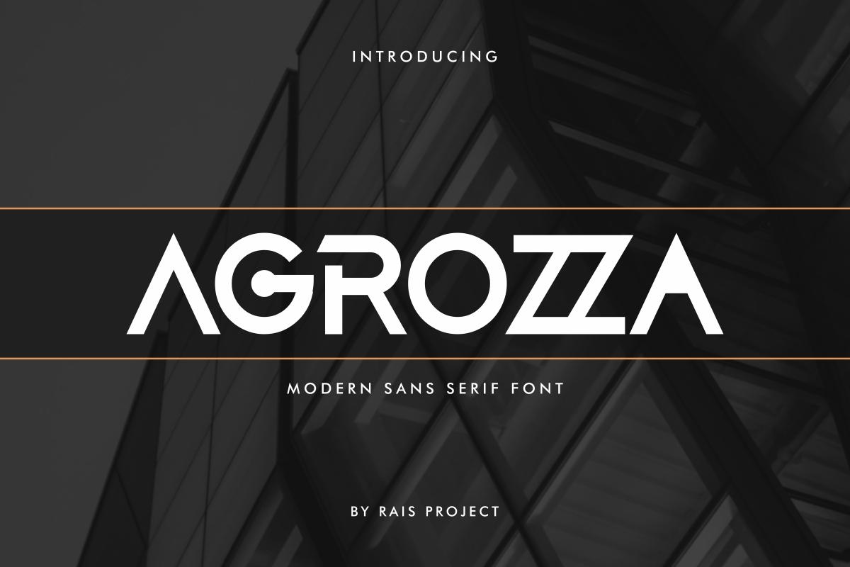 AGROZZA Sans Serif Display Font -1