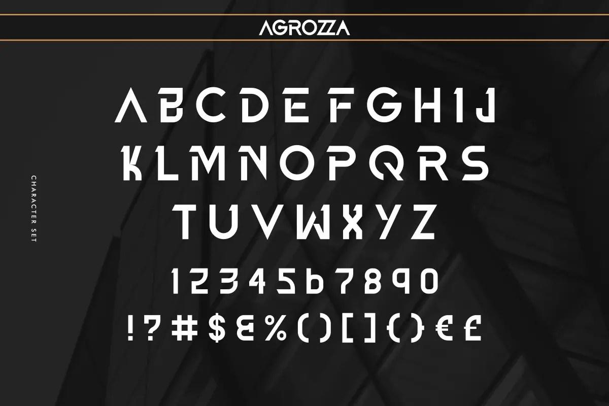 AGROZZA Sans Serif Display Font -3