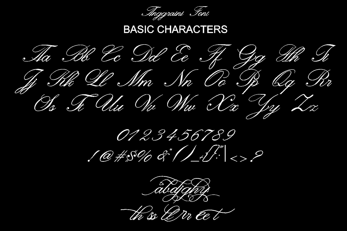 Anggraini Calligraphy Font -3