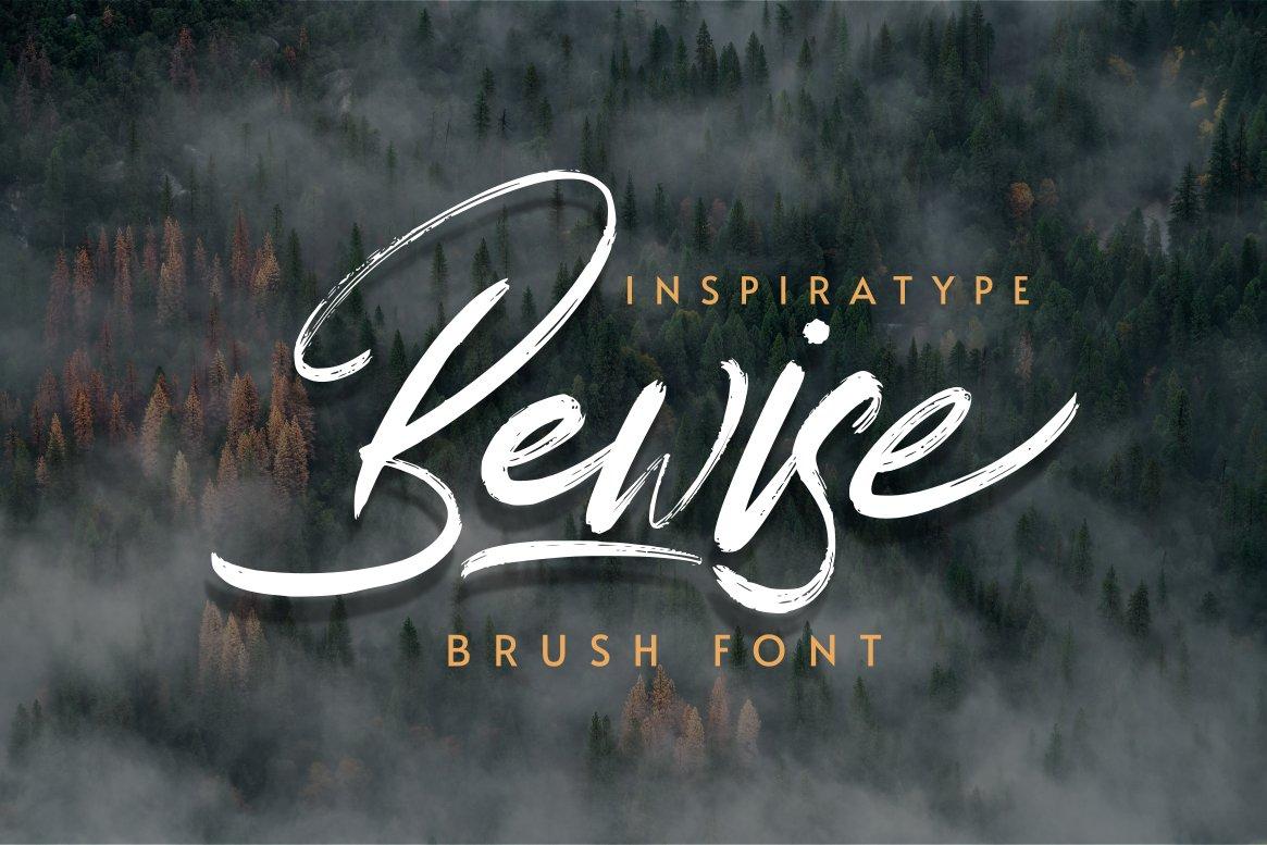 Bewise Script Brush Font-1