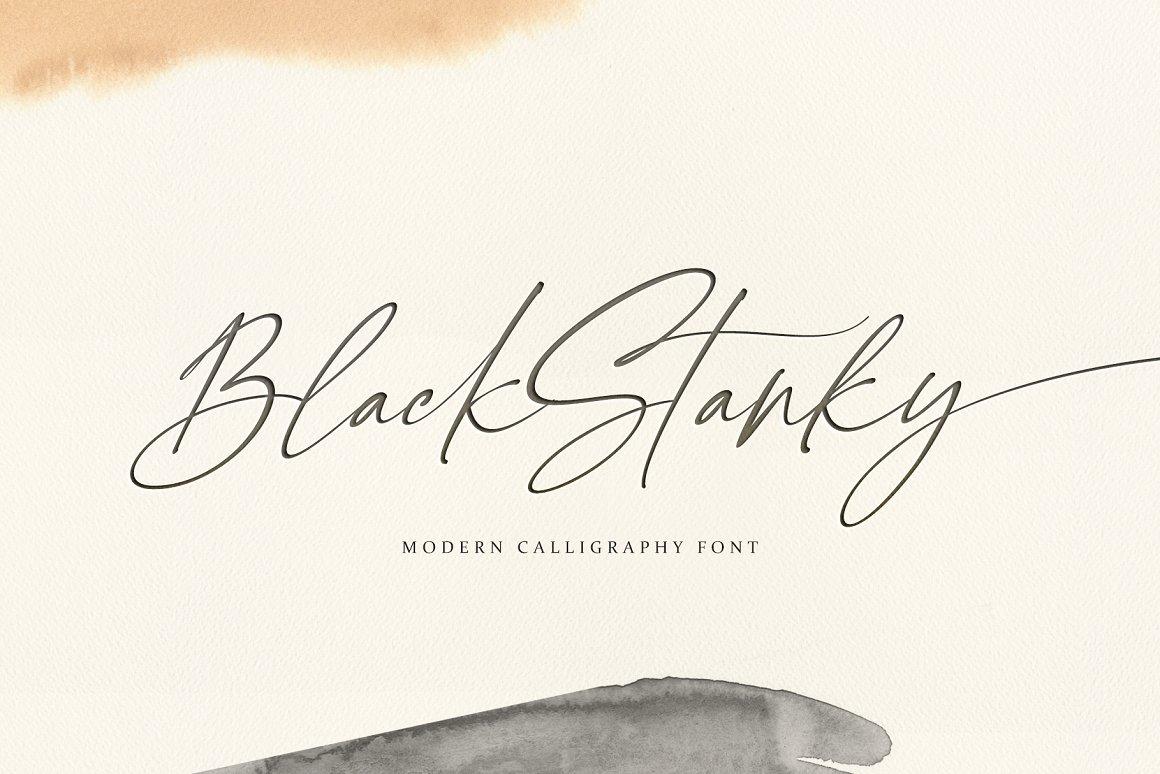 Black Stanky CalligraphyFont -1