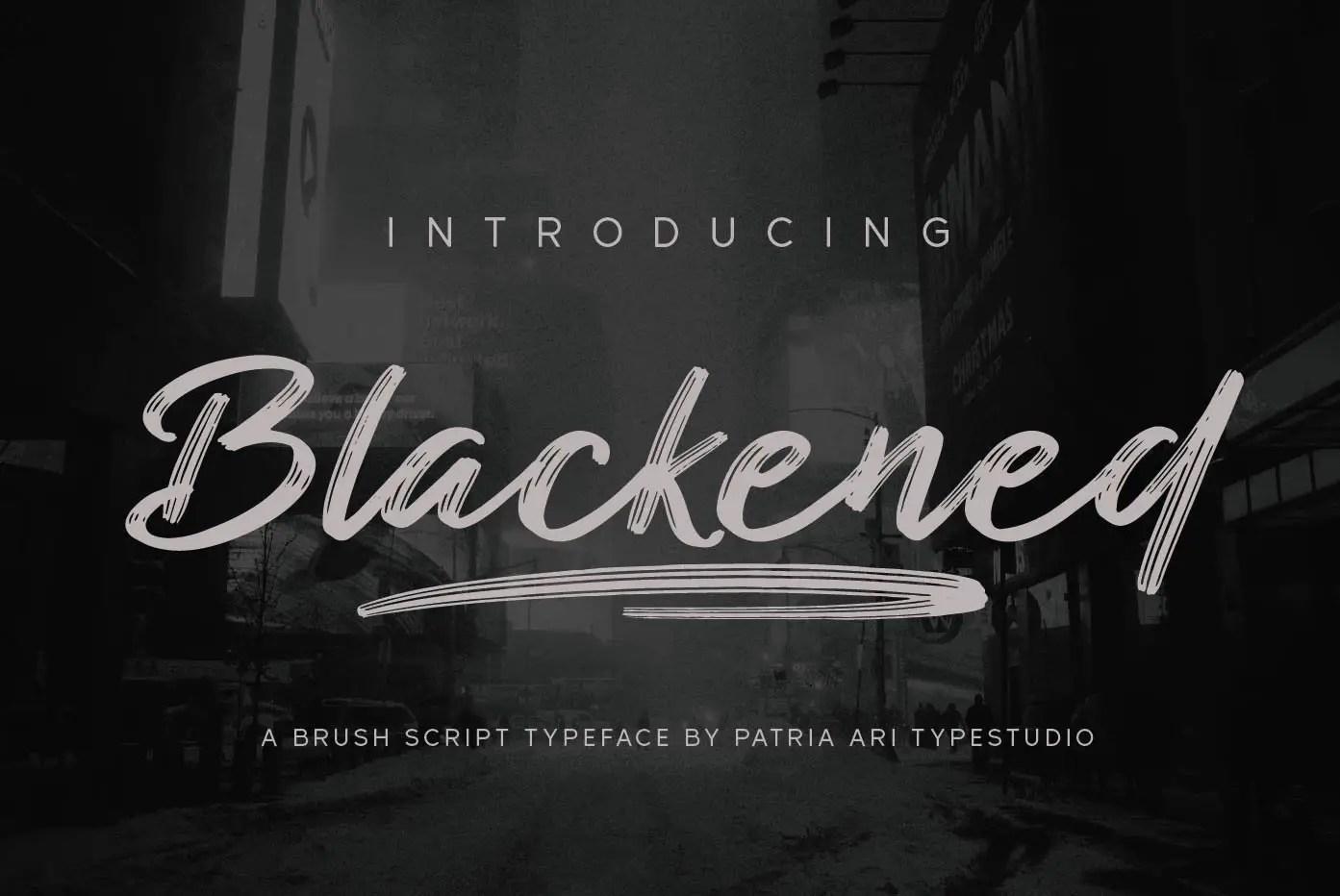 Blackened Brush Script Font-1