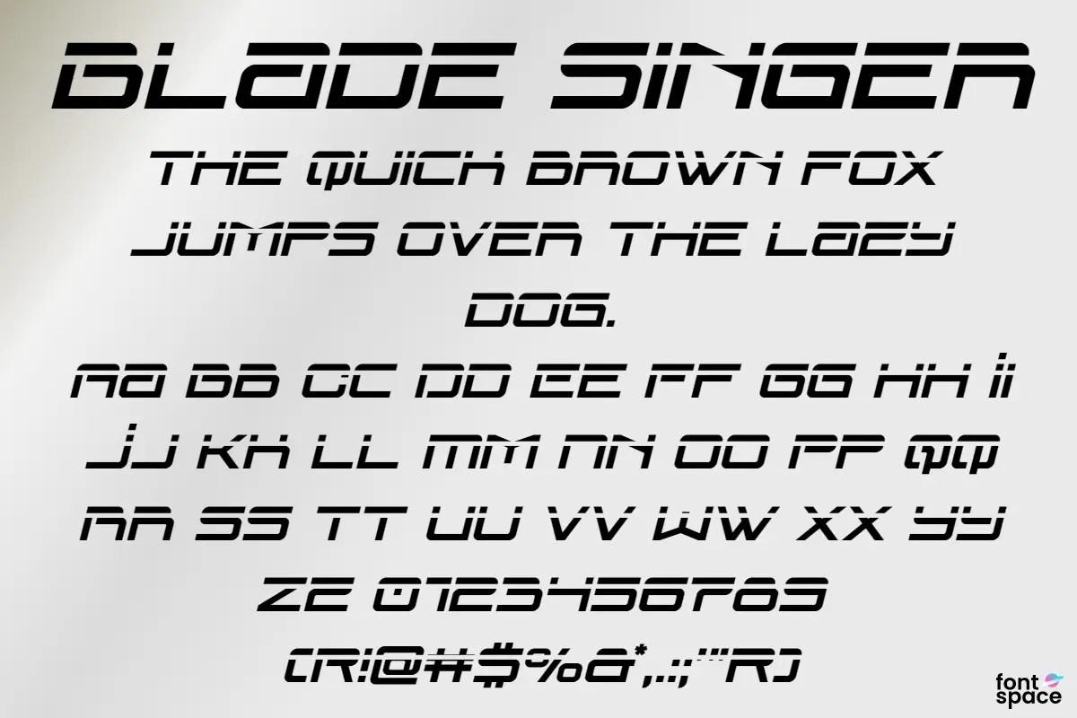Blade Singer Display Font -2