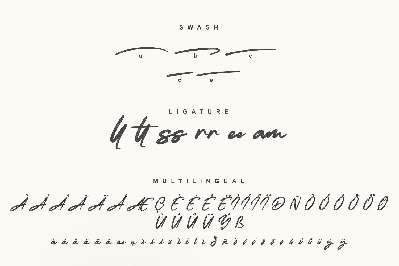 Blluebong Brush Font-3