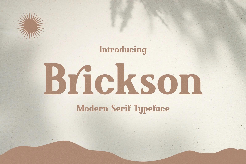 Brickson Serif Font -1