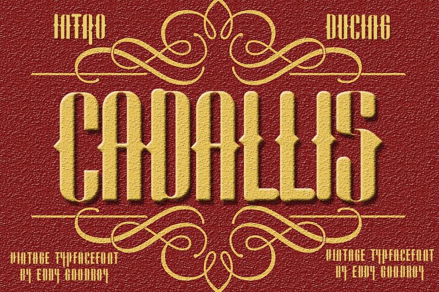 Cadallis Blackletter Font -1