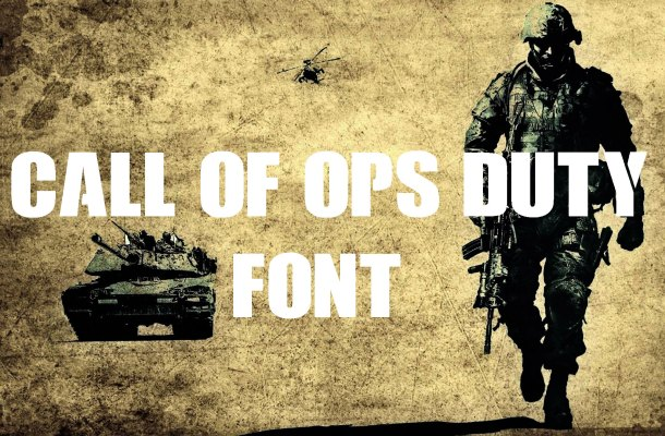 Call of Ops Duty Font