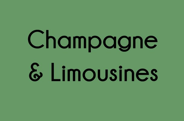 Champagne & Limousines Font