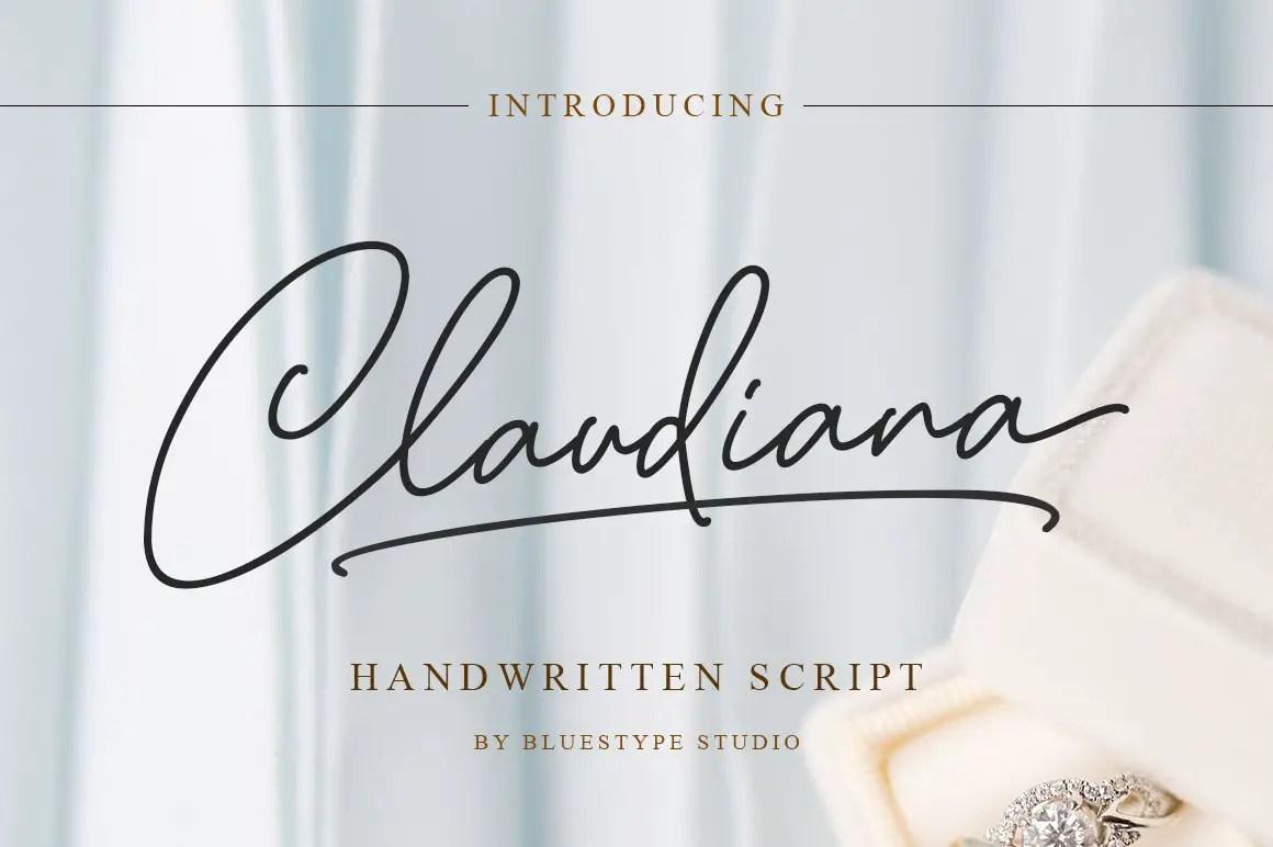 Claudiana Handwritten Font-1