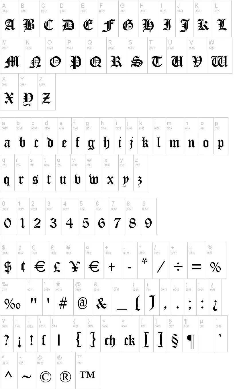 Cloister Black Medieval Font -2