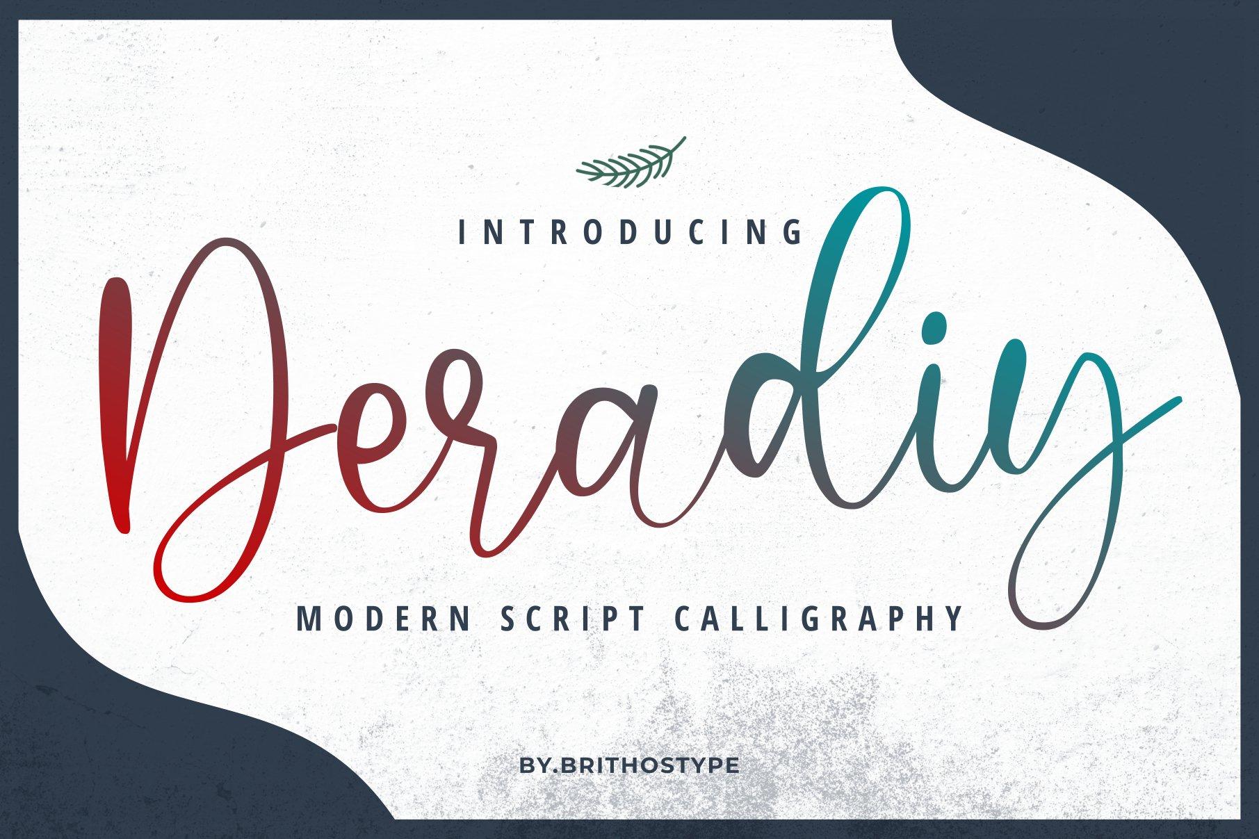 Deradiy ScriptCalligraphy Font-1
