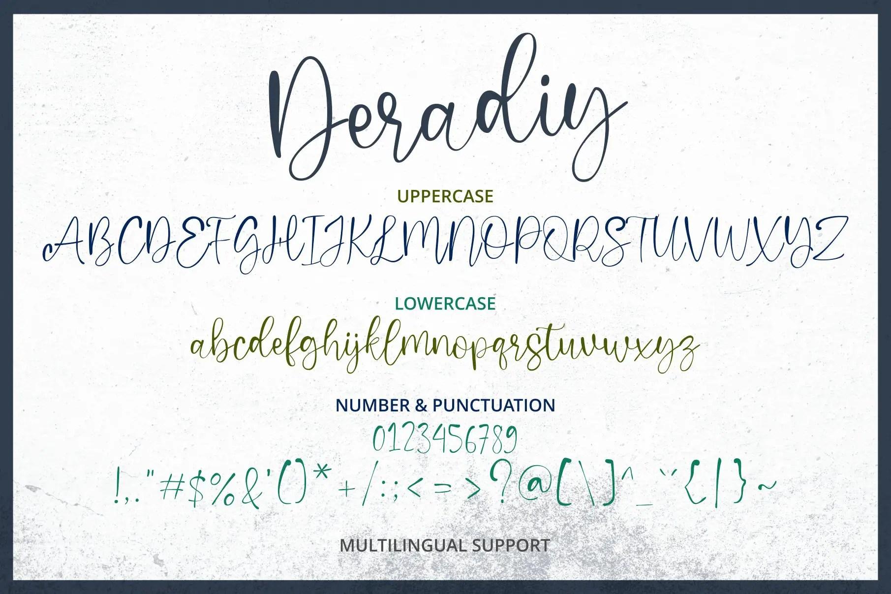 Deradiy ScriptCalligraphy Font-3