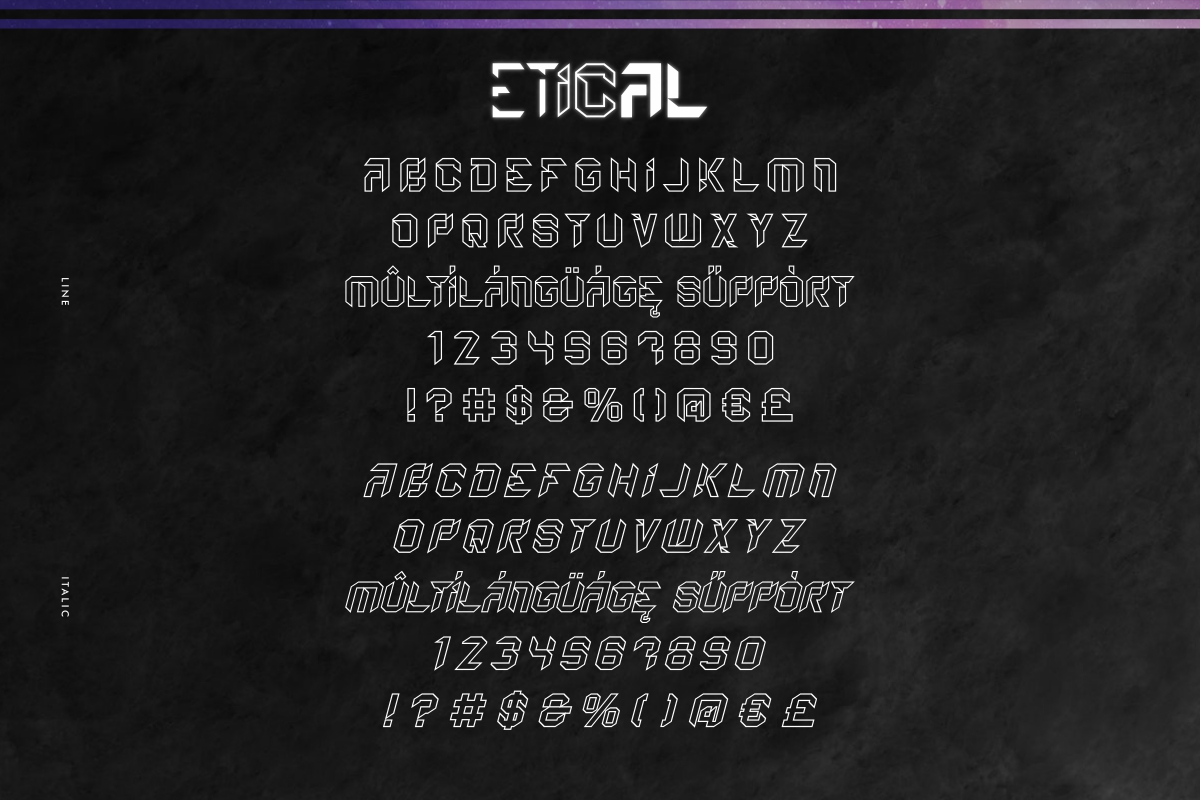 Etical Display Font -4