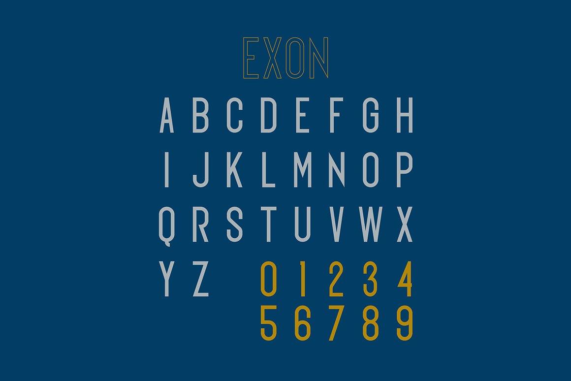 Exon Modern Sans Serif Typeface -3