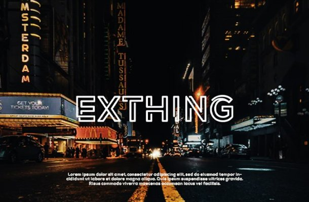 Exthing Font