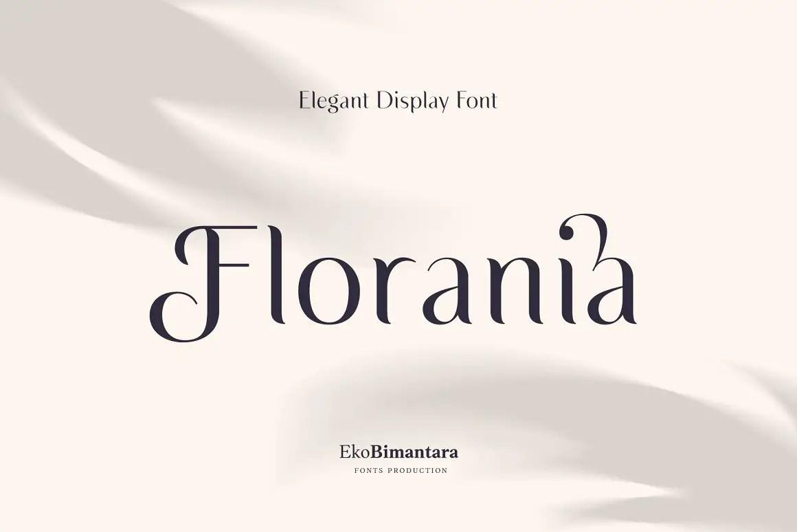 Florania Elegant Serif Font -1