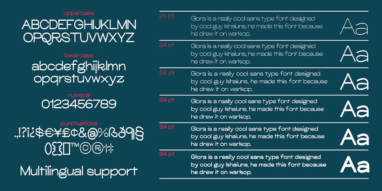 Glora Modern Sans Serif Font Free-3