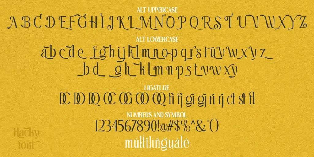 Hacky Luxury Serif Font Family -3