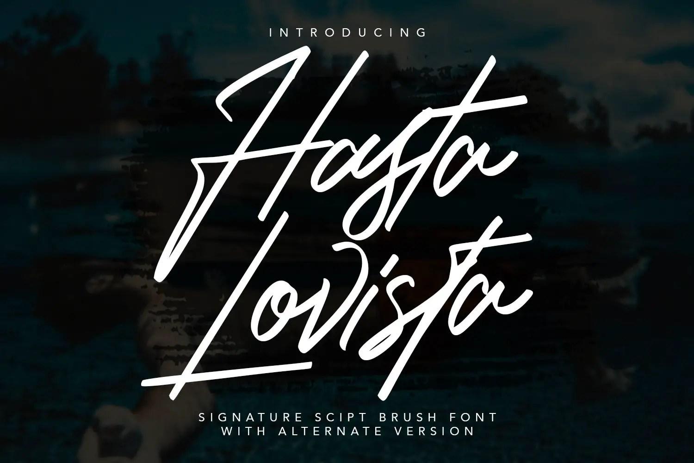 Hasta Lovista Signature Script Font -1