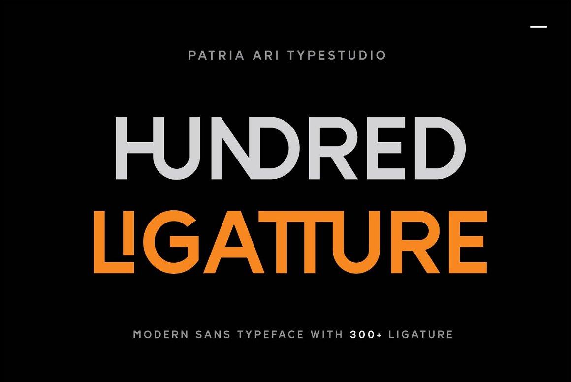 Hundred Ligatture Sans Serif Font -1