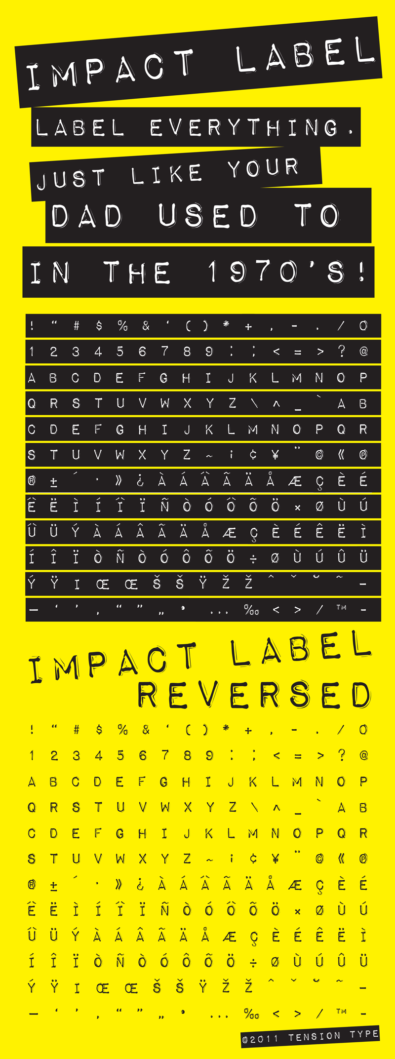 Impact Label Fancy Font -2