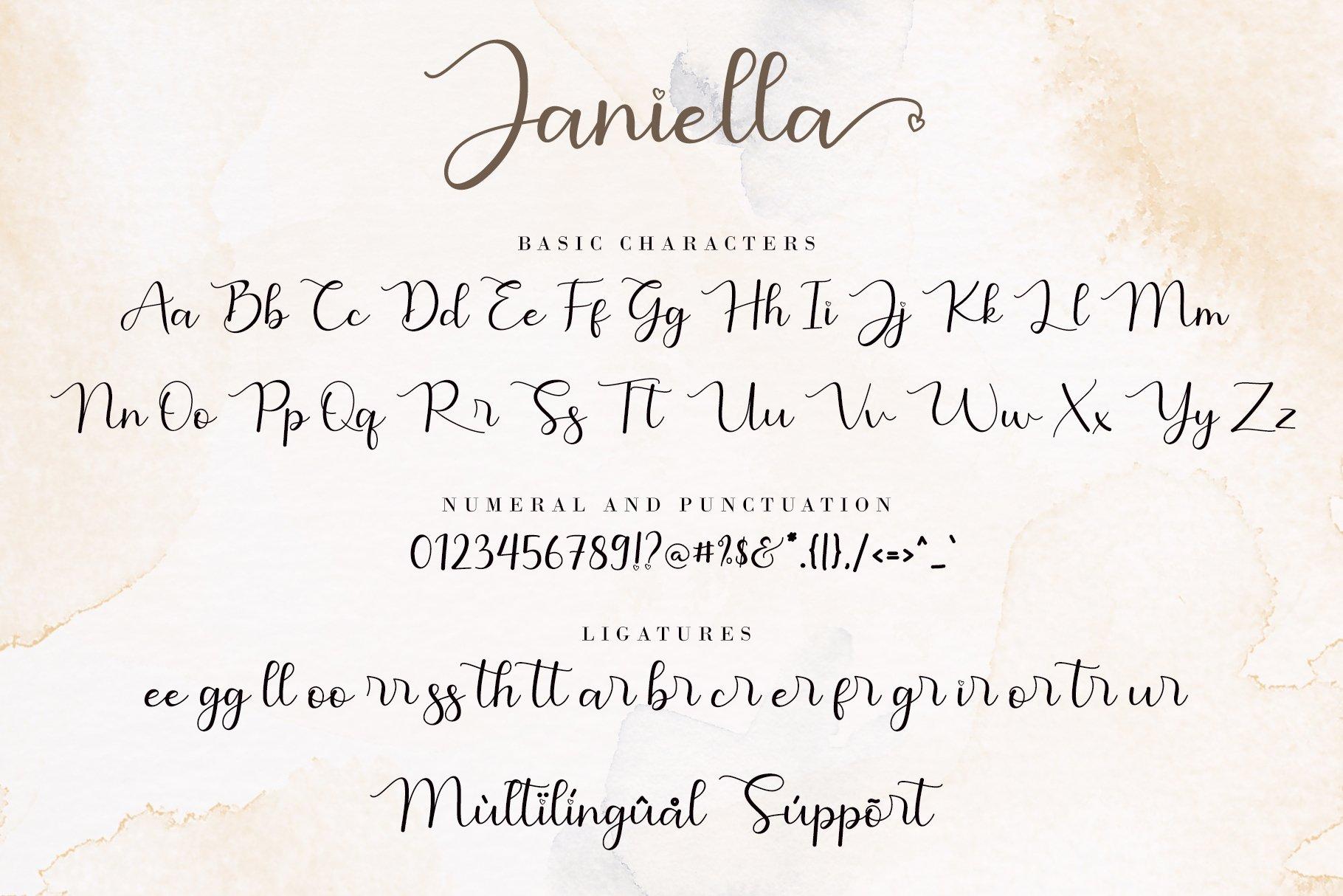 Janiella Modern Calligraphy Font -3