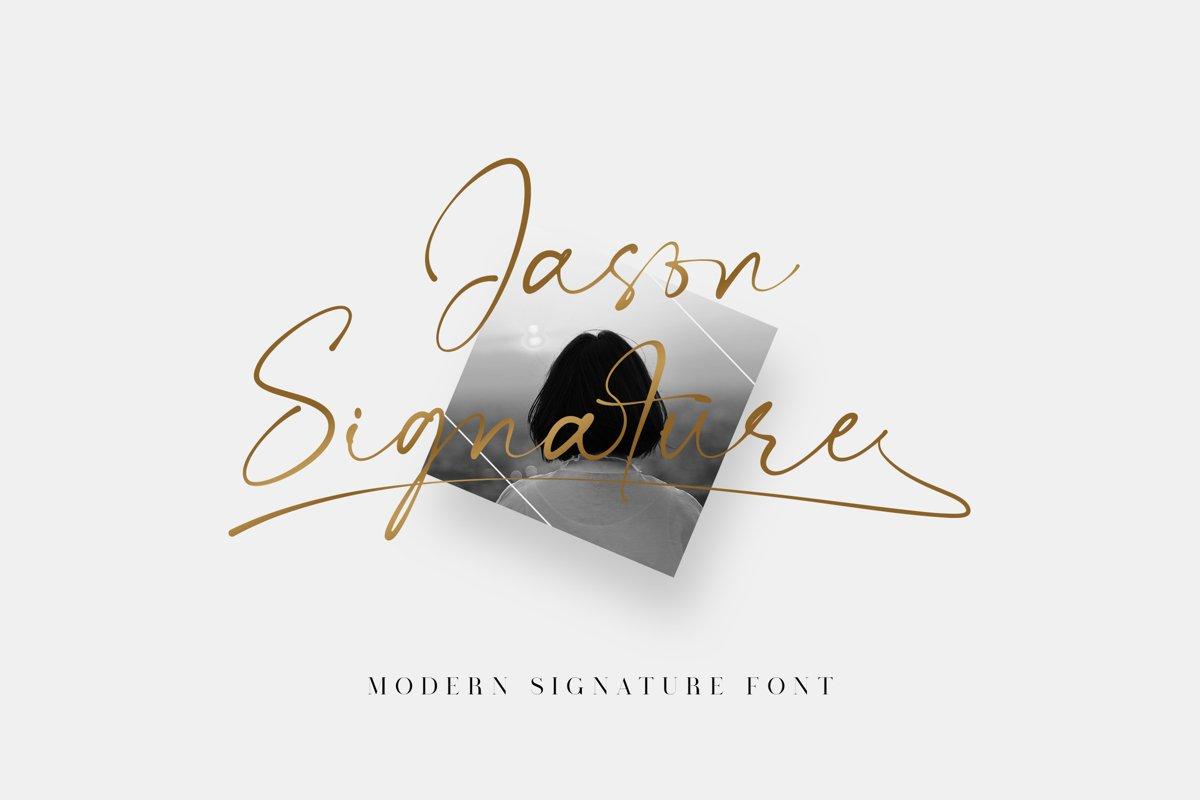 Jason Signature Script Handwritten Font -1