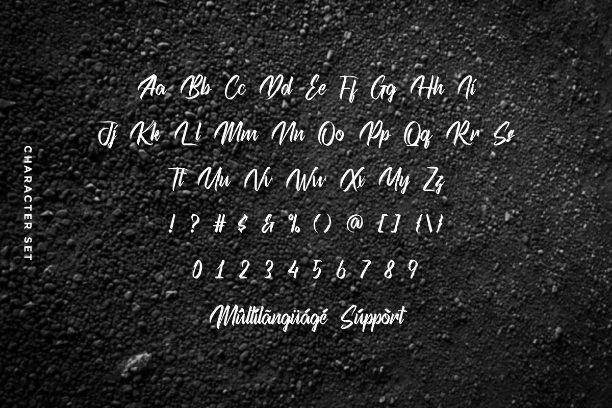 Kicktails Script Brush Font -3
