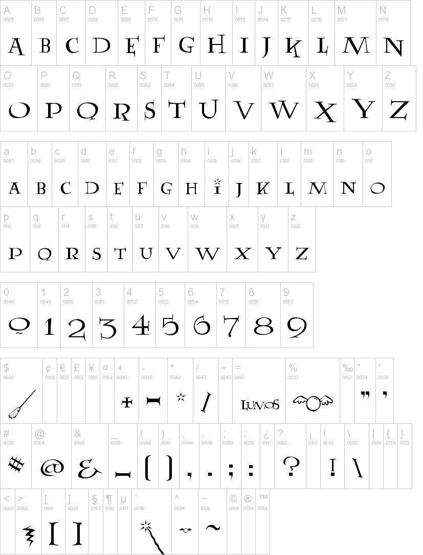Lumos Fancy Font -2