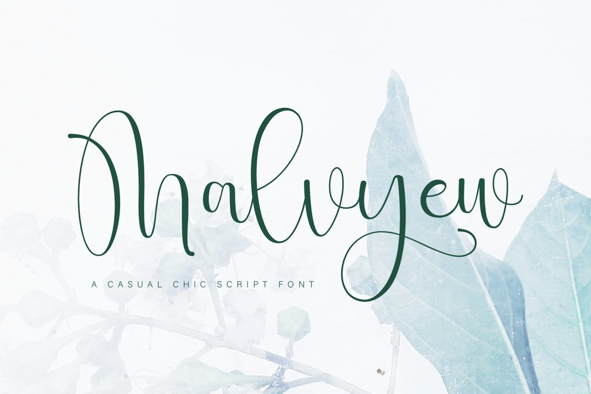 Malvyew Casual Calligraphy Font -1