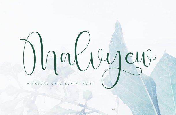 Malvyew Font