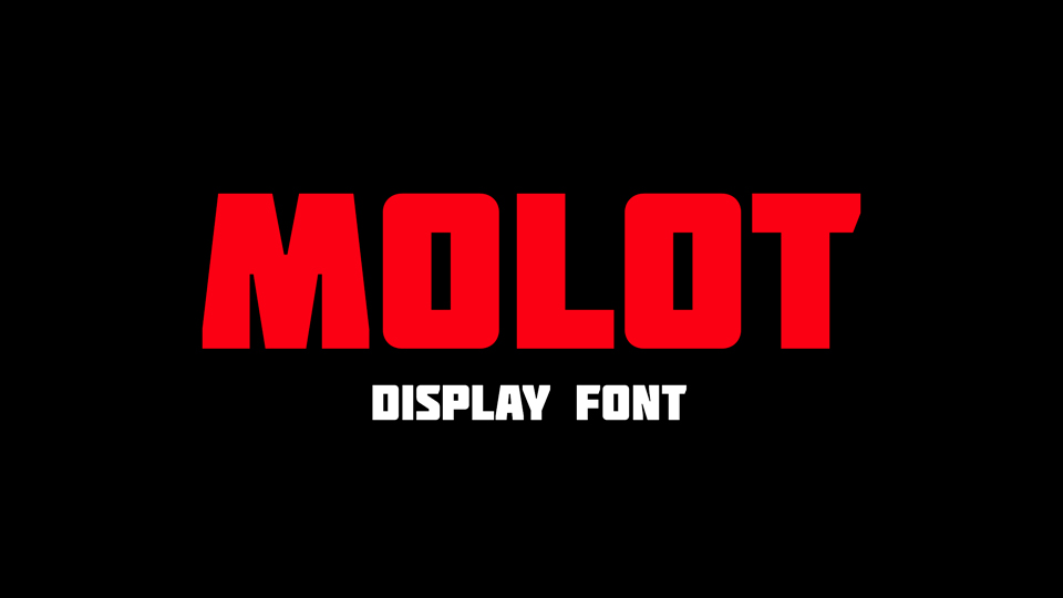 Molot Foreign look Font -1